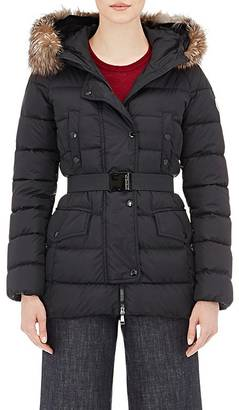 Moncler Women's Fur-Trimmed Down-Quilted Clio Coat
