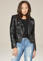 Bebe Double Breasted Moto Jacket