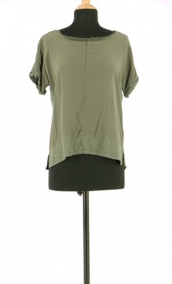 Gerard Darel Khaki Linen Top for Women