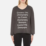 Wildfox Couture Women's Grocery List 5am Sweatshirt Clean Black