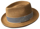 Bailey Of Hollywood Poole Braided Straw Hat with Striped Band