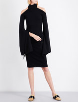SOLACE London Kai cold-shoulder knitted dress