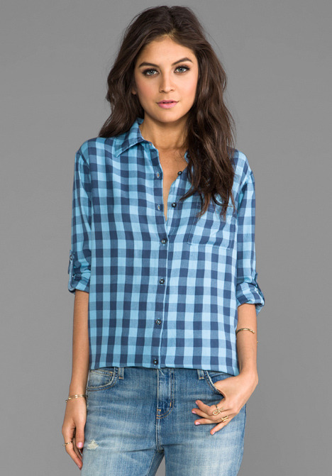 SUNDRY Button Up Flannel Shirt