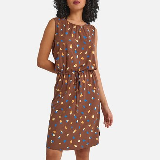 La Redoute Collections Sleeveless Mini Dress in Graphic Print