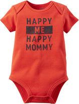 Carter's Short-Sleeve Happy Me Happy Mom Bodysuit - Baby Boys newborn-24m