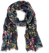 Sole Society Wild Floral Print Scarf
