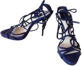 Christian Dior Blue Suede Sandals