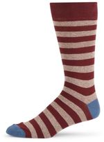 Saks Fifth Avenue Jasper Rugby Stripe Crew Socks