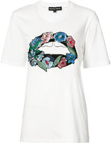 Markus Lupfer embroidered flower T-shirt - women - Cotton/Sequin - XS