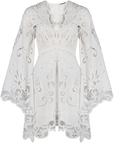 Thurley Belle Embroidered Bell Sleeve Dress
