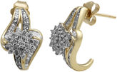FINE JEWELRY 3/4 CT. T.W. Diamond In 10K Yellow Gold Earring