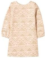 Billieblush Pale Pink and Gold Print Jacquard Dress