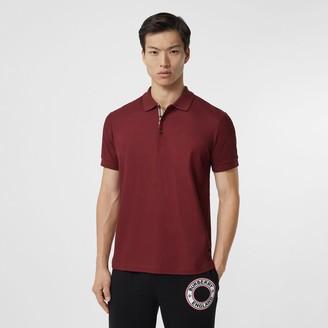 Burberry Monogram Motif Cotton Pique Polo Shirt Size: XS