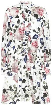 Erdem Quentin floral cotton-poplin minidress
