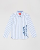 Scotch Shrunk Slim Fit Oxford Artwork Shirt - Teens
