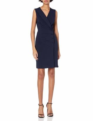 Nanette Lepore Nanette Women's Sleeveless V Neck Double Breasted Blazer Fitted Stretch Dress