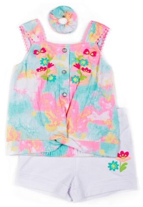 Little Lass Toddler Girl Tie-Dye Tank Top & Shorts, 2pc Outfit Set