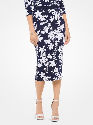 MICHAEL Michael Kors Floral Pencil Skirt