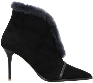 Malone Souliers Fur Trimmed Ankle Boots