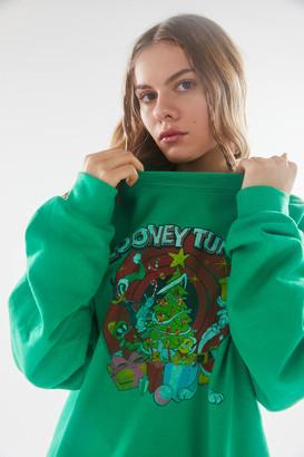 Junk Food Clothing Looney Tunes Holiday Tree Sweatshirt