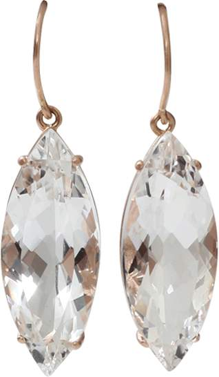 Andrea Fohrman Rock Crystal Marquis Earrings