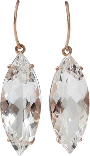 Andrea Fohrman Rock Crystal Marquis Earrings