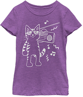 Fifth Sun Purple Berry Hip Cat Tee - Girls