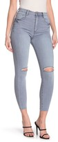 Tractr Ultra High Rise Distressed Skinny Jeans