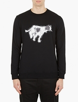 White Mountaineering Black Dog-Motif Cotton Sweatshirt