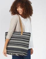 Fat Face Tia Suede Woven Shopper bag