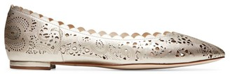 Cole Haan Callie Cutout Metallic Leather Ballet Flats