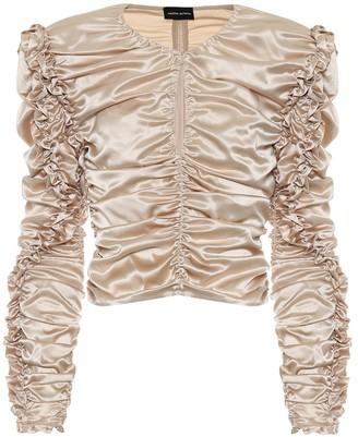 Magda Butrym Konya stretch-silk satin blouse