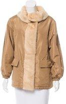 Prada Mink Fur-Trimmed Short Coat