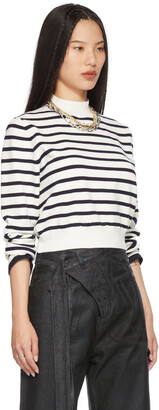 Jean Paul Gaultier SSENSE Exclusive White Cut-Out Back Mariniere Sweater