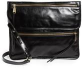 Hobo Vista Calfskin Leather Messenger Bag - Black