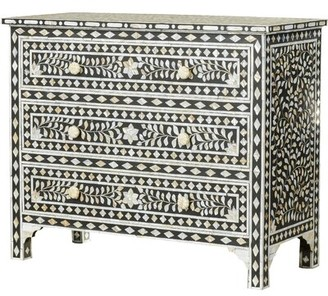 Bungalow Rose Deeley Traditional 3 Drawer Accent Chest