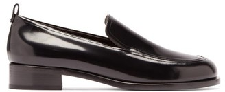 The Row High-shine Leather Loafers - Black