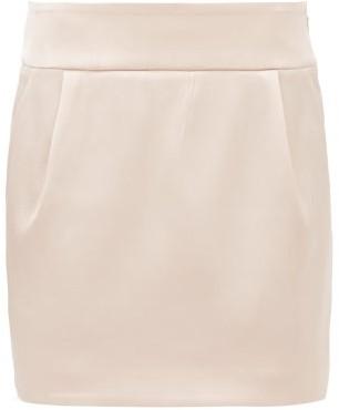 Alexandre Vauthier Satin Mini Skirt - Light Pink