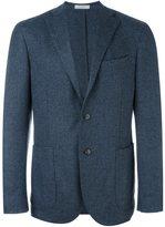 Boglioli pattern peaked lapels blazer