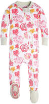 Burt's Bees Baby Rosy Spring Organic Zip Front Footed Pajamas