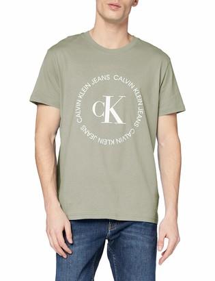 Calvin Klein Jeans Men's CK Round Logo REG TEE T-Shirt