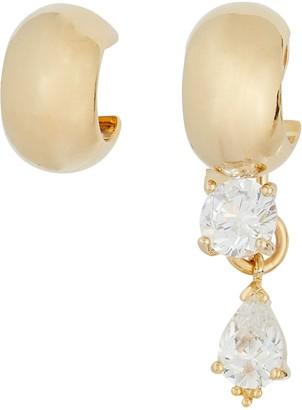 Mounser Glint Mismatched Huggie Hoop Earrings