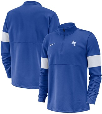 Nike Men's Royal Air Force Falcons 2019 Coaches Sideline Performance Half-Zip Pullover Jacket