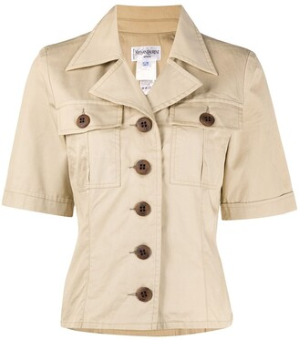 Yves Saint Laurent Pre Owned 1990s Fitted Safari Jacket