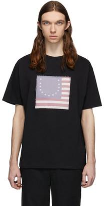 424 Black Smiley Flag T-Shirt