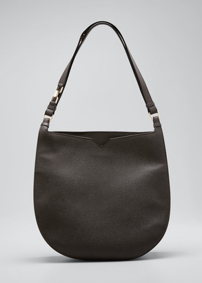 Valextra Weekend Hobo Large Leather Shoulder Bag