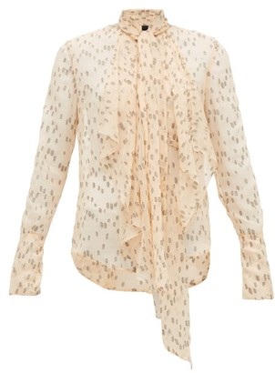Petar Petrov Calida Polka-dot Silk-blend Blouse - Black / Cream