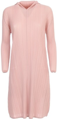 Pleats Please Issey Miyake Dress L/s Rounded Bottom