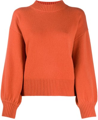 Allude Bishop Sleeve Knit Jumper