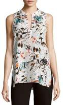 Leo & Sage Raw Silk Sleeveless Top